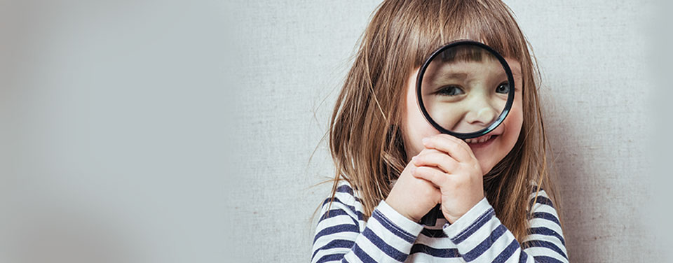 Girl with Magnifying Glass Banner Branding
