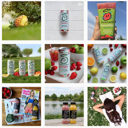 Innocent uses creative design on its Instagram page