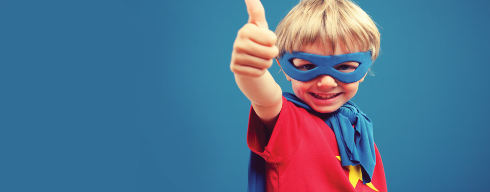 Superhero Child Banner