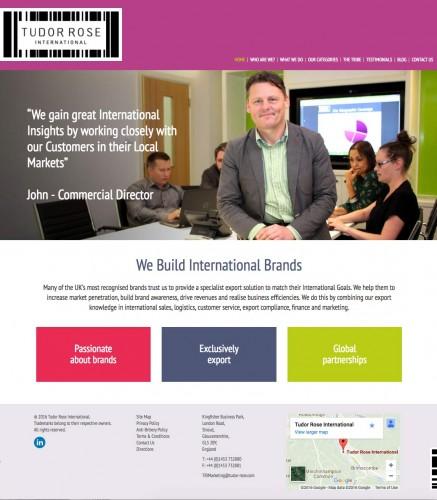 Tudor Rose Website Home Page