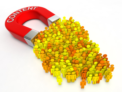 b2b content marketing magnet attracting multiple users