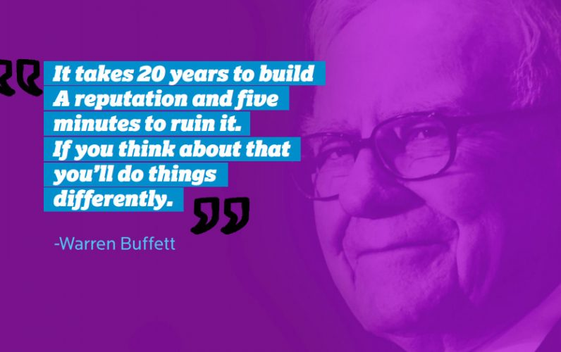 Warren buffet brand strategy quote