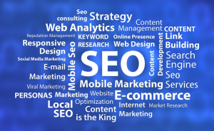 What is SEO word cloud