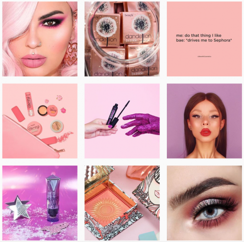 benefit cosmetics Instagram uses great creative design