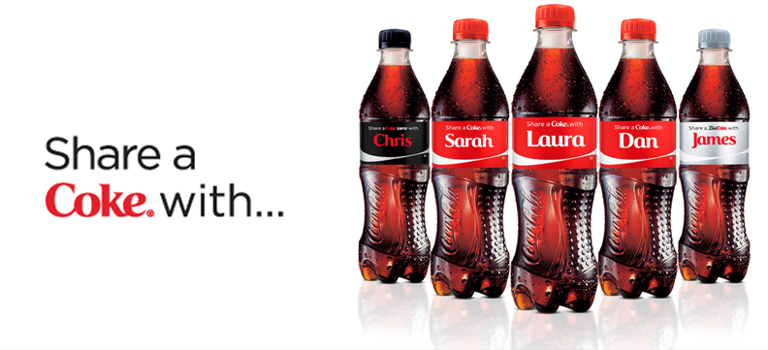 Share a coke – UGC marketing